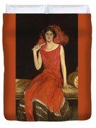Lady In Red - Mrs Owen Barton Jones Duvet Cover