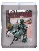 Lady In The Park Duvet Cover