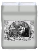 Lady Liberty Mourns During The Civil War Duvet Cover