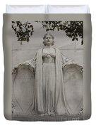 Lady Liberty On Alamo Monument Duvet Cover