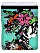 Lady Of The Garden Duvet Cover