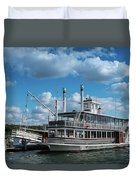 Lady Of The Lake Wisconsin Duvet Cover