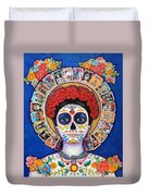 Lady Of The Loteria Duvet Cover