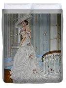 Lady On The Staircase Duvet Cover