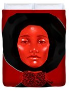 Lady Red Duvet Cover
