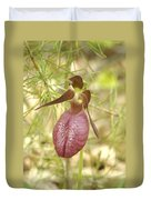 Lady Slipper Blossom Duvet Cover