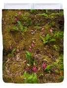 Lady Slippers And Star Flower Duvet Cover