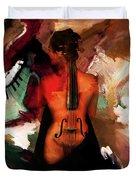 Lady Violin 01 Duvet Cover