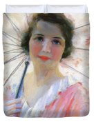 Lady With A Parasol 1921 Duvet Cover