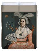 Lady With Her Pets. Molly Wales Fobes Duvet Cover