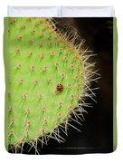 Ladybug On Cactus Duvet Cover