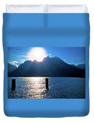 Lago Di Garda At Sunset View Duvet Cover
