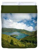 Lagoa Do Fogo Duvet Cover