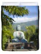 Lahaina Buddha At Jodo  Duvet Cover