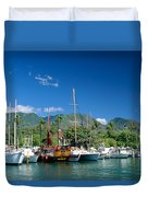 Lahaina Harbor - Maui Duvet Cover