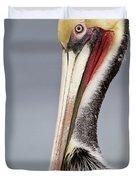 La Jolla Pelican Duvet Cover