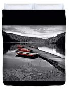 Lake And Boats Duvet Cover