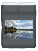 Lake And Clouds Duvet Cover