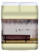 Lake Bench Duvet Cover