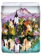 Lake Bled - Slovenia Duvet Cover