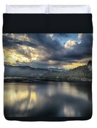 Lake Bled Sunset Duvet Cover