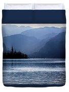 Lake Bled Twilight Duvet Cover