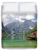 Lake Braies Duvet Cover