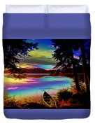 Lake Canoe Duvet Cover