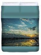 Lake Champlain Vermont Sunrise - 2 Landscape Duvet Cover