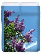 Lake Country Lilacs Duvet Cover