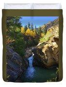Lake Creek Falls Duvet Cover