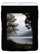 Lake Crescent Through The Trees Duvet Cover