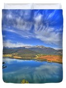 Lake Dillon Blue Duvet Cover