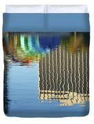 Lake Eola Reflections Duvet Cover