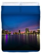 Lake Eola Sunset Duvet Cover