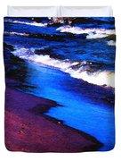 Lake Erie Shore Abstract Duvet Cover