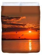 Lake Erie Sunset 7999 Duvet Cover