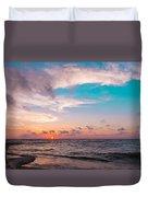 Lake Erie Sunset Duvet Cover
