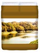 Lake Fantana In The Mountans Duvet Cover