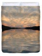 Lake Front Sunset Duvet Cover