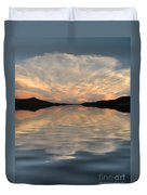 Lake Front Sunset Duvet Cover