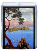 Lake Garda 1920s French Duvet Cover