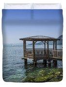 Lake Garda Riverside At Garda Duvet Cover