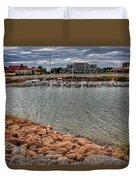Lake Hefner Dock Duvet Cover