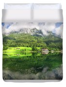 Lake Hintersee Duvet Cover
