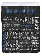 Lake House Rules Duvet Cover