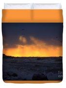 Lake Huron Arctic Blast 2 Duvet Cover