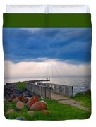 Lake Huron Michigan Duvet Cover