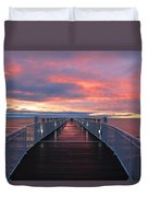 Lake Huron Pier Duvet Cover