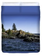Lake Huron Shoreline Cedarville Michigan Duvet Cover